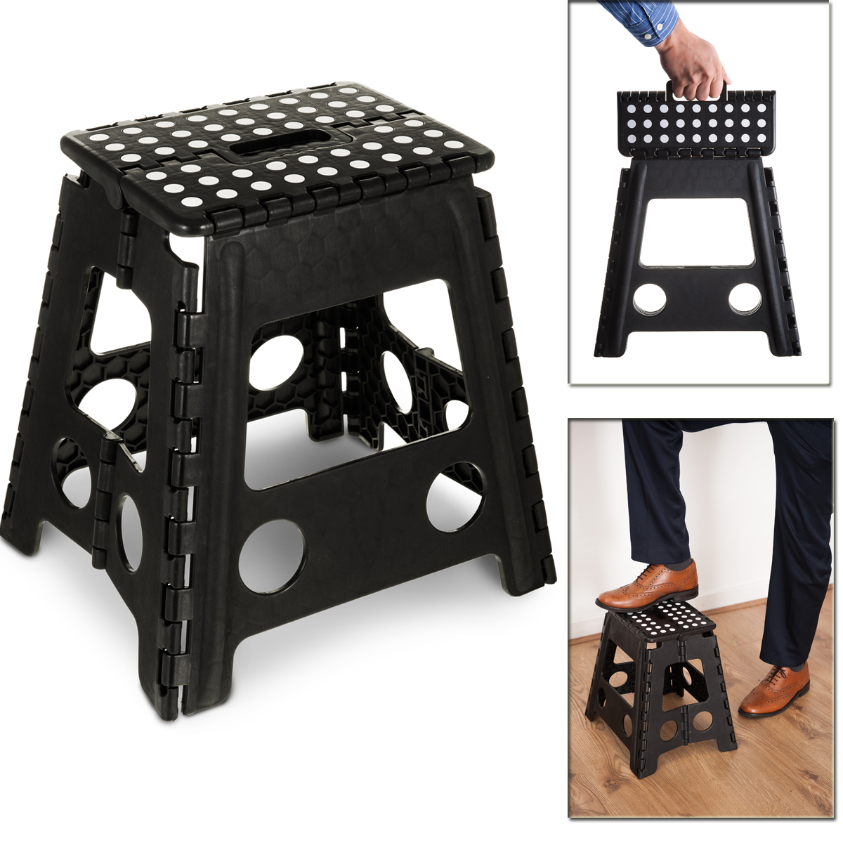 Peachy Details About Large Multi Purpose Fold Step Stool Plastic Home Kitchen Foldable Easy Storage Ocoug Best Dining Table And Chair Ideas Images Ocougorg