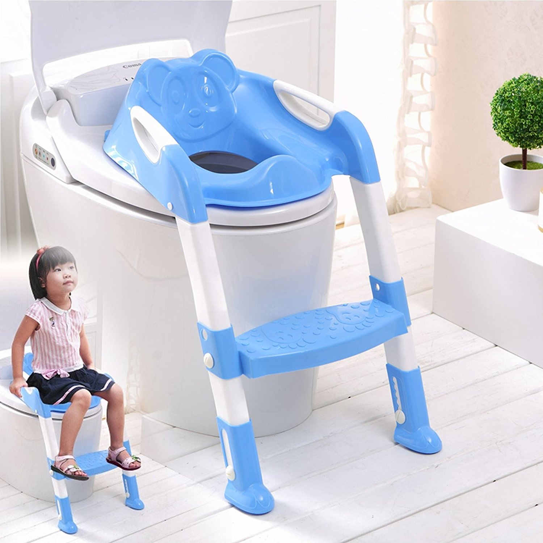 NEW BABY KIDS//TODDLER//CHILD FOLDING TOILET POTTY TRAINING STEP LADDER LOO SEAT