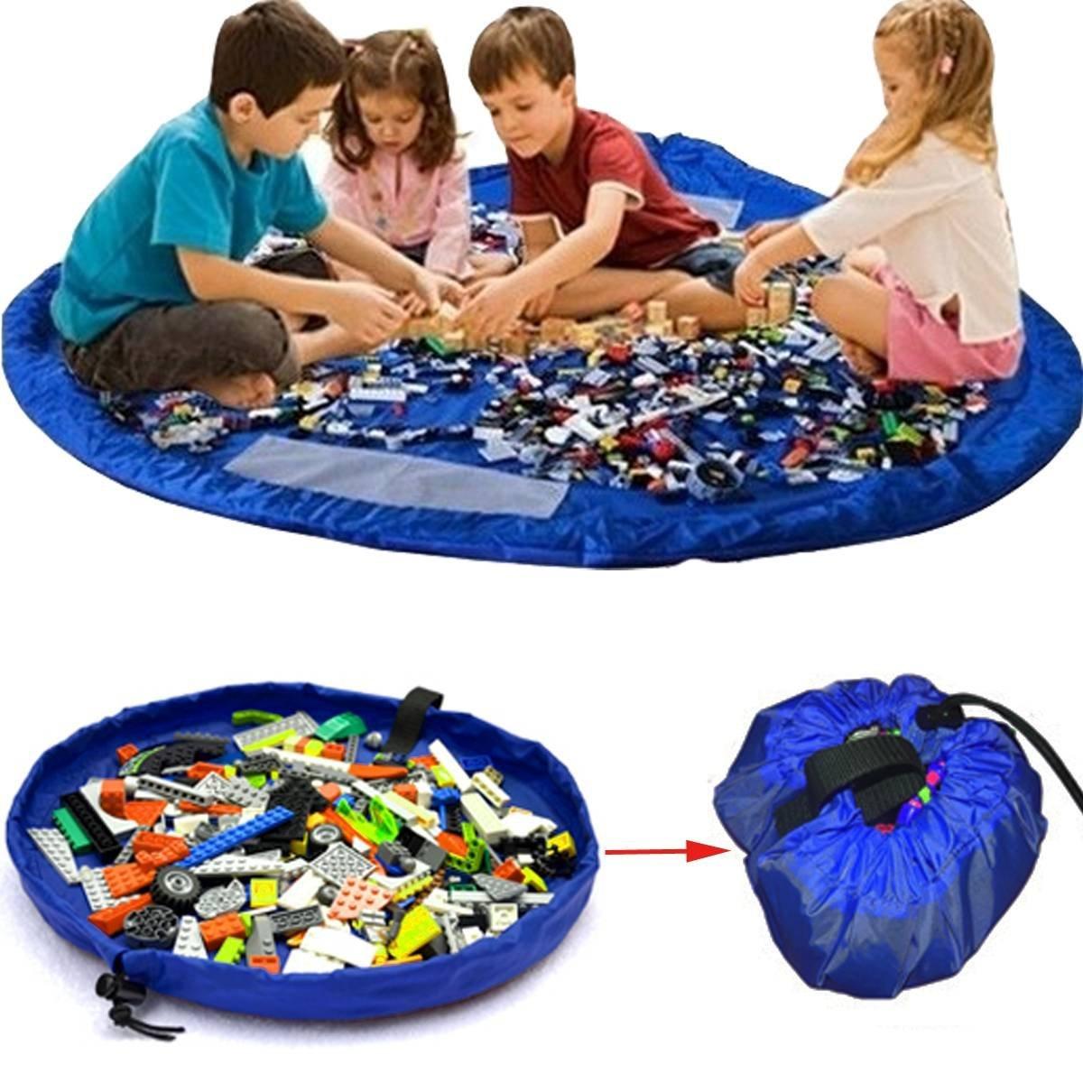 Lego Sack 2 in 1 large storage bag tidy toys play mat rug organiser