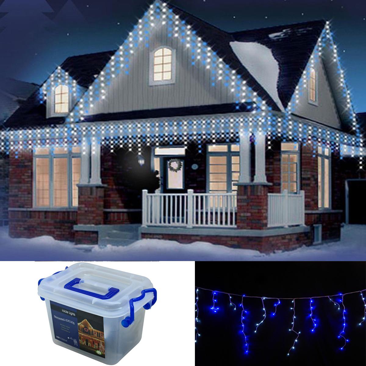 Christmas 960 Whiteblue White Icicle Led Xmas Snowing Lights