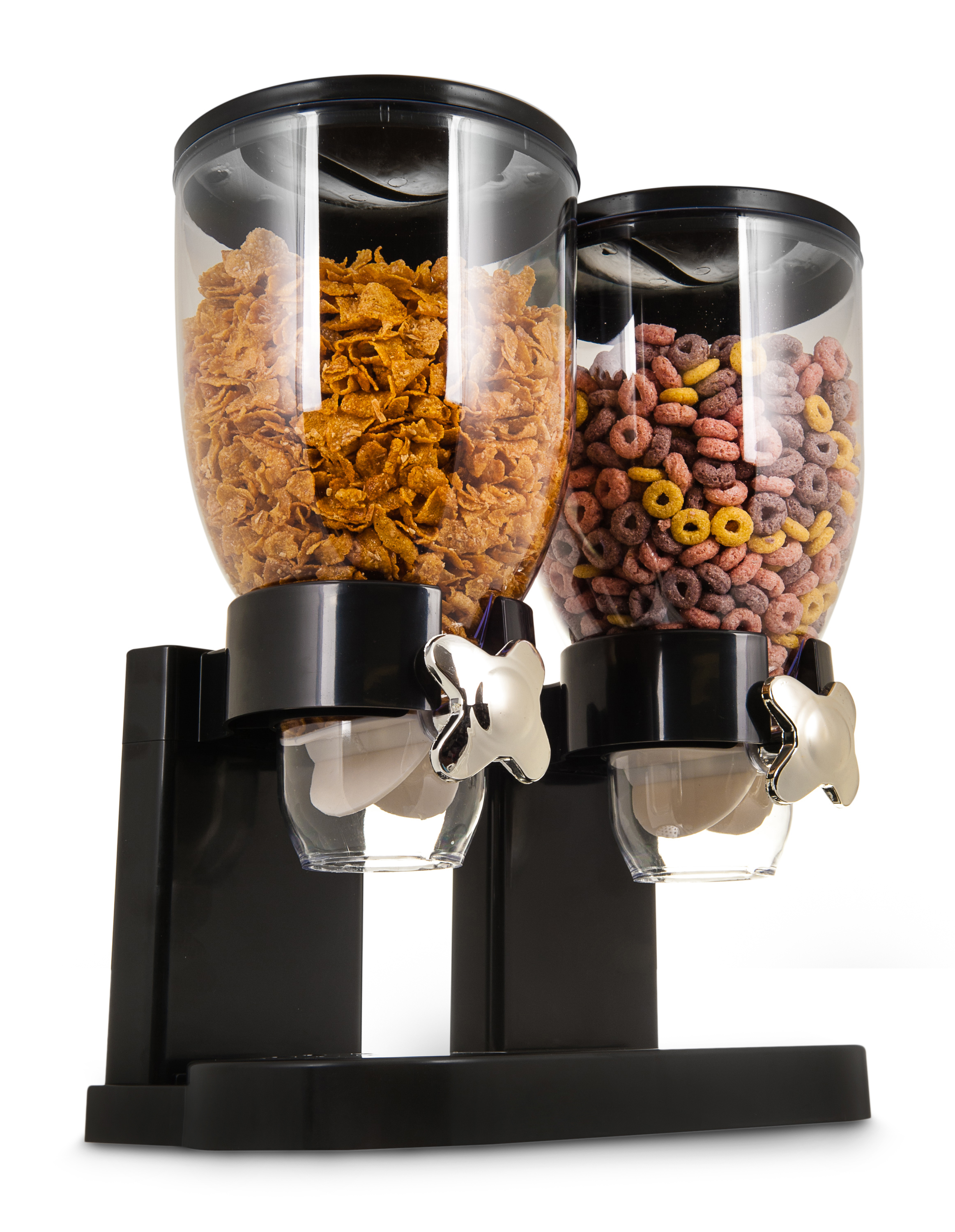 Livivo Double Cereal Dispenser Dry Food Storage Container