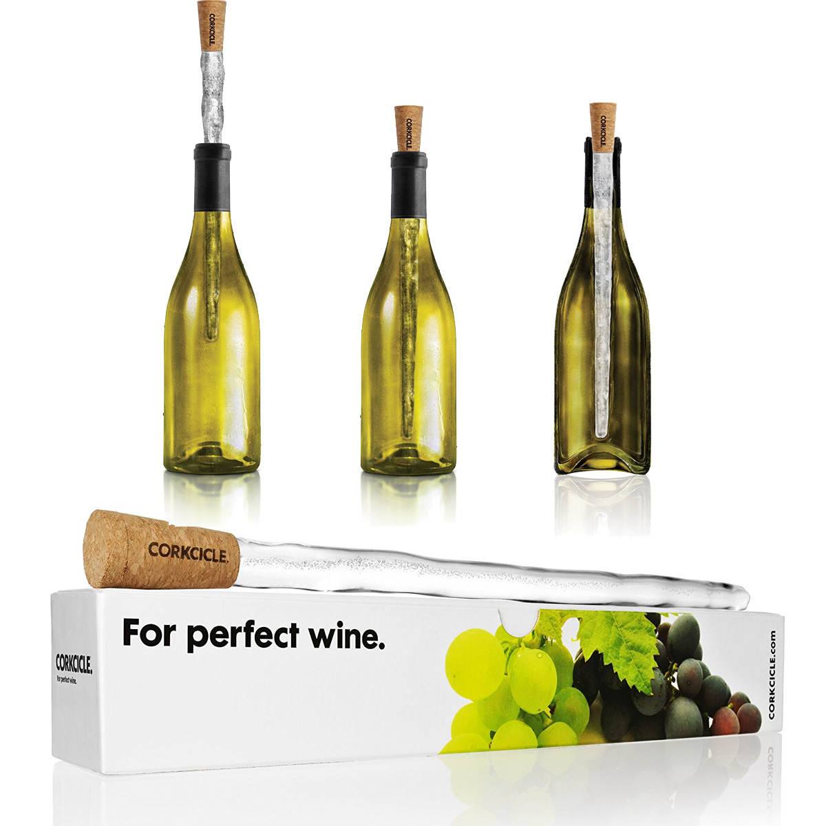 Details about NEW CORKCICLE WINE BOTTLE CHILLER COOLER COOLING ICE CORK ROD  STICK XMAS GIFT