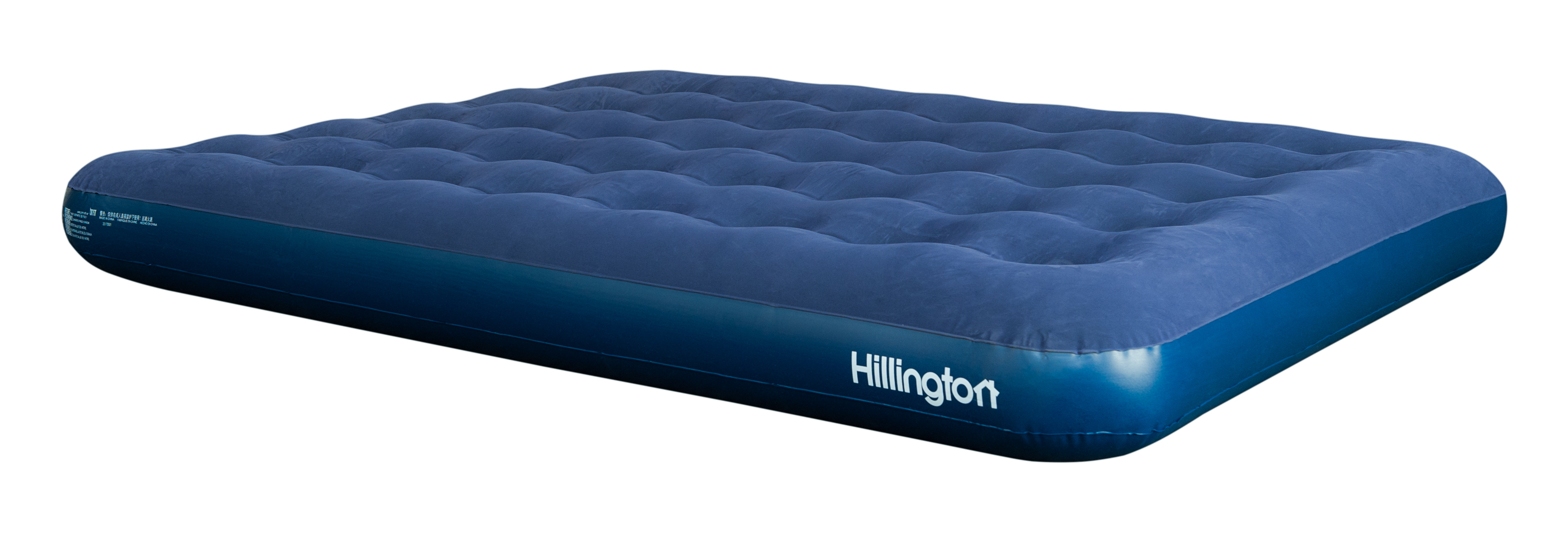 new inflatable double flocked air bed camping luxury relax. Black Bedroom Furniture Sets. Home Design Ideas