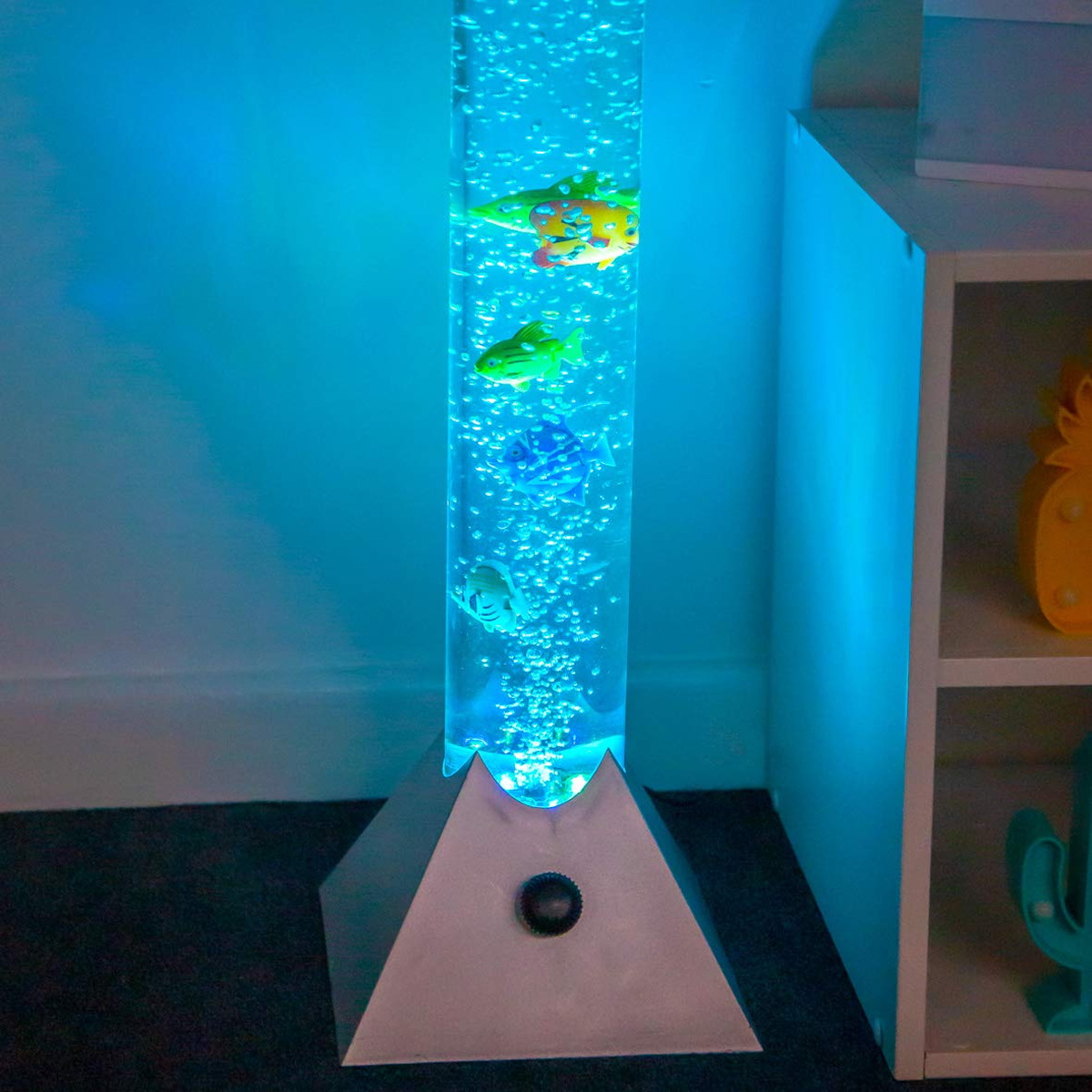 Colour Changing Led Sensory Mood Bubble 5 Fish Water Tower