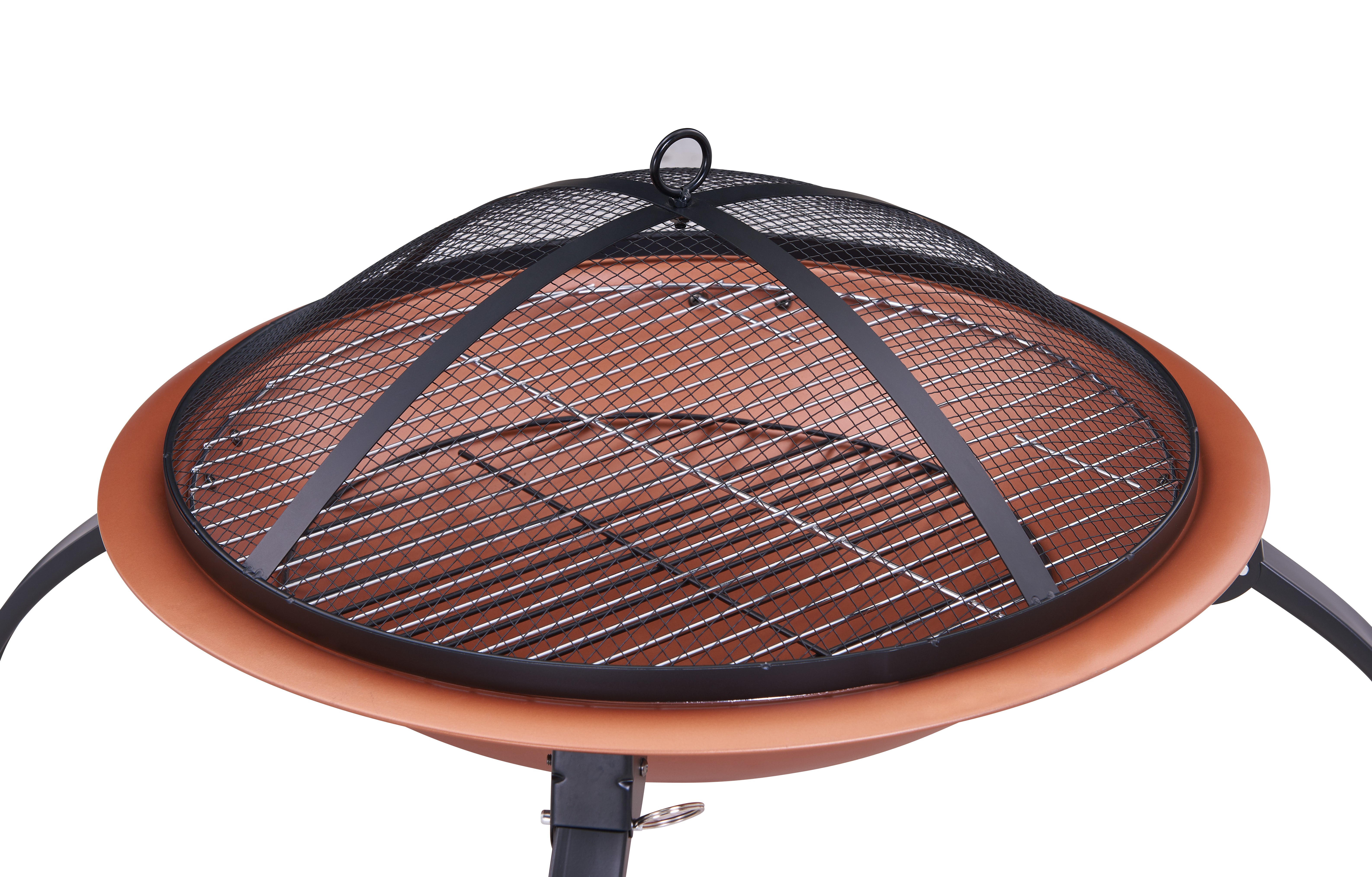 Livivo Copper Round Fire Pit Patio Garden Bowl Outdoor