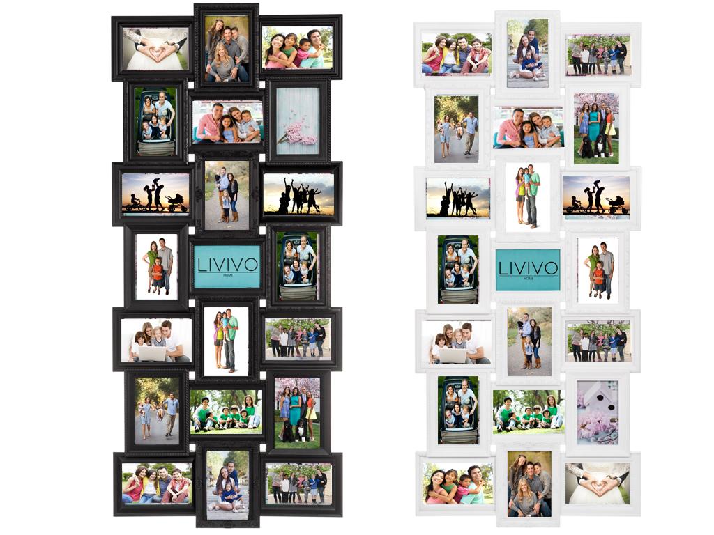 21 MULTI APERTURE PHOTO FRAME PHOTOS COLLAGE FAMILY IMAGE BLACK ...