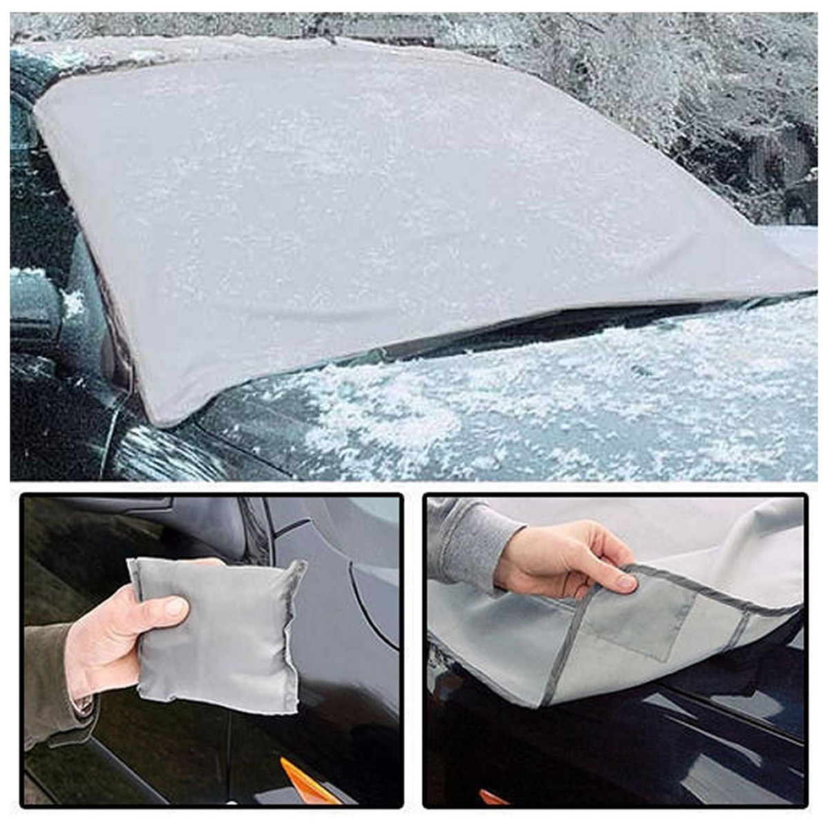 Magnetic Windscreen Cover Car Van Frost Snow Ice Sun Dust View Protector Shade
