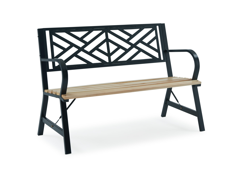 Outdoor Cast Iron Wood Garden Bench Seat Patio Furniture