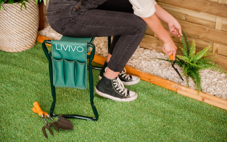 2in1 Folding Portable Garden Kneeler Foam Seat Knee Pad
