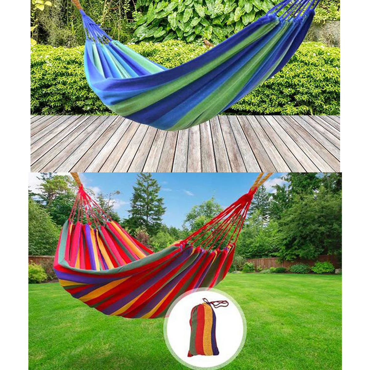 Loyal Portable Hammock Outdoor Garden Hammock Hanging Bed For Home Travel Camping Hiking Swing Canvas Stripe Hammock Camping & Hiking Sports & Entertainment