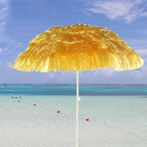 OUTDOOR GARDEN HAWAIIAN PARASOL BEACH UMBRELLA TILTING SUNSHADE PATIO HAWAII  NEW