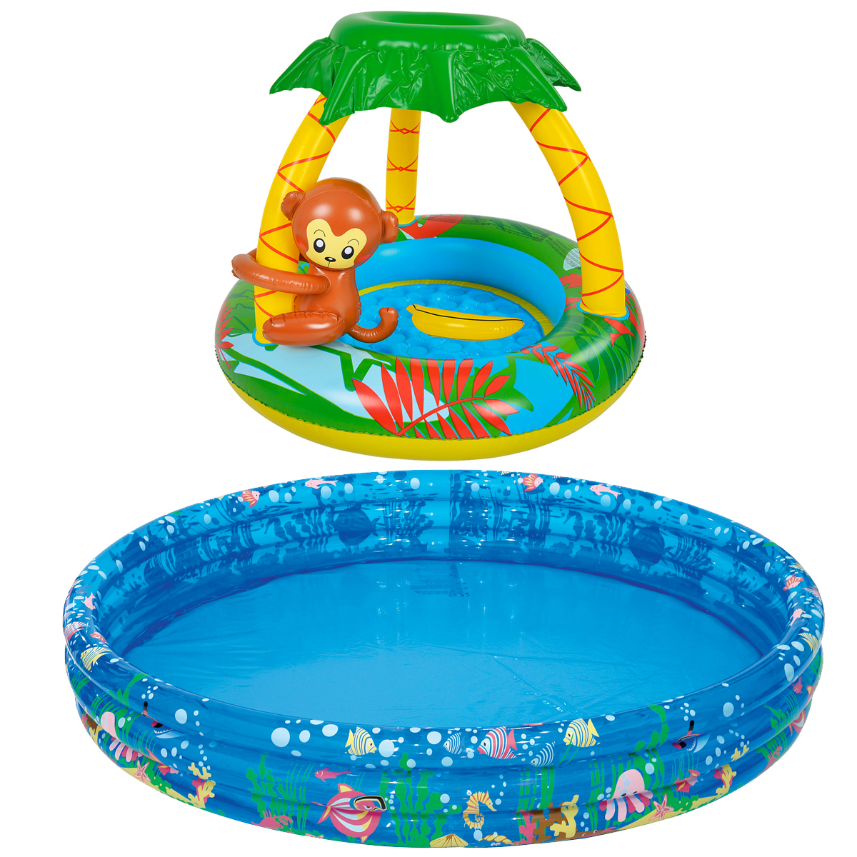 Details about BABY TODDLER INFLATABLE MONKEY / TROPICAL SWIMMING PADDLING  POOL KIDS FILL N FUN