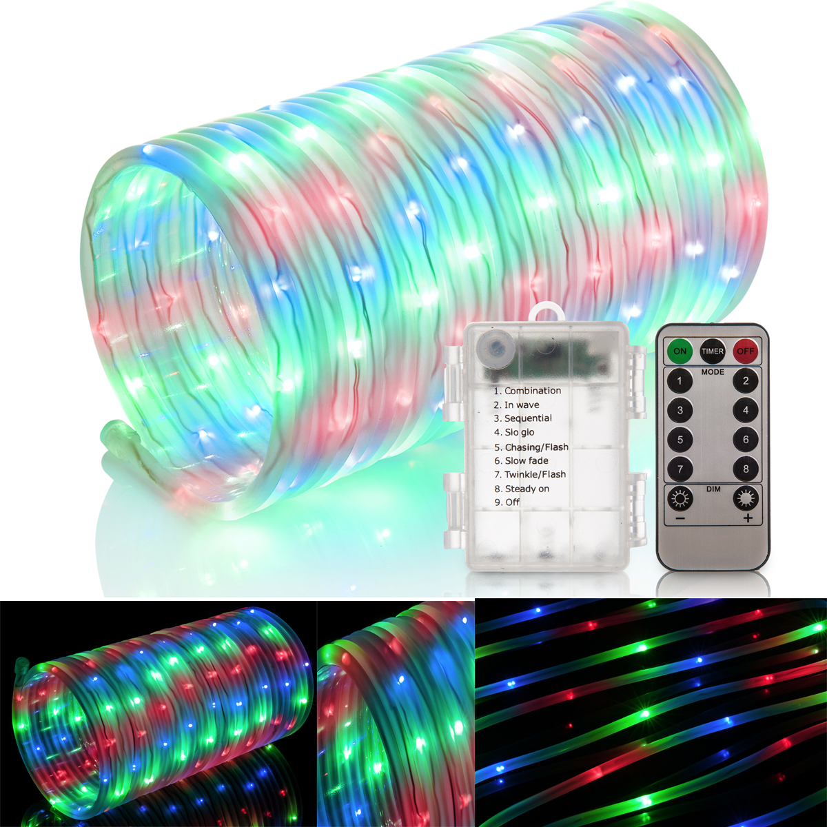 Rope Lights Sensory: COLOUR CHANGING LED SENSORY MOOD BUBBLE 5 FISH WATER TOWER
