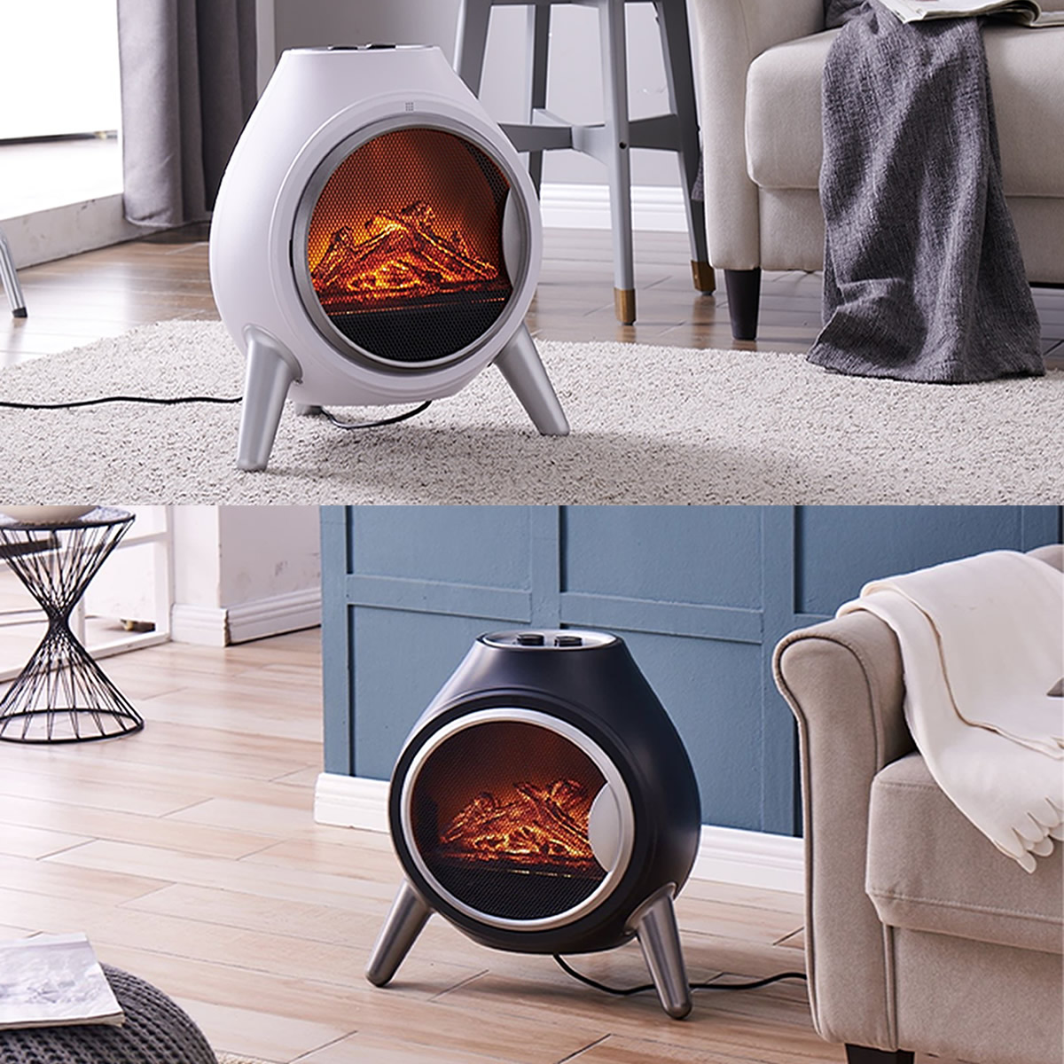 Fine Details About 1 8Kw Log Fire Electric Heater Oval Flame Effect Fireplace Log Burner Stove Led Beutiful Home Inspiration Ommitmahrainfo