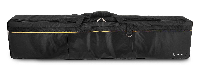 livivo 88 key electric piano keyboard padded carry gig bag case cover w pockets 5060497646049 ebay. Black Bedroom Furniture Sets. Home Design Ideas