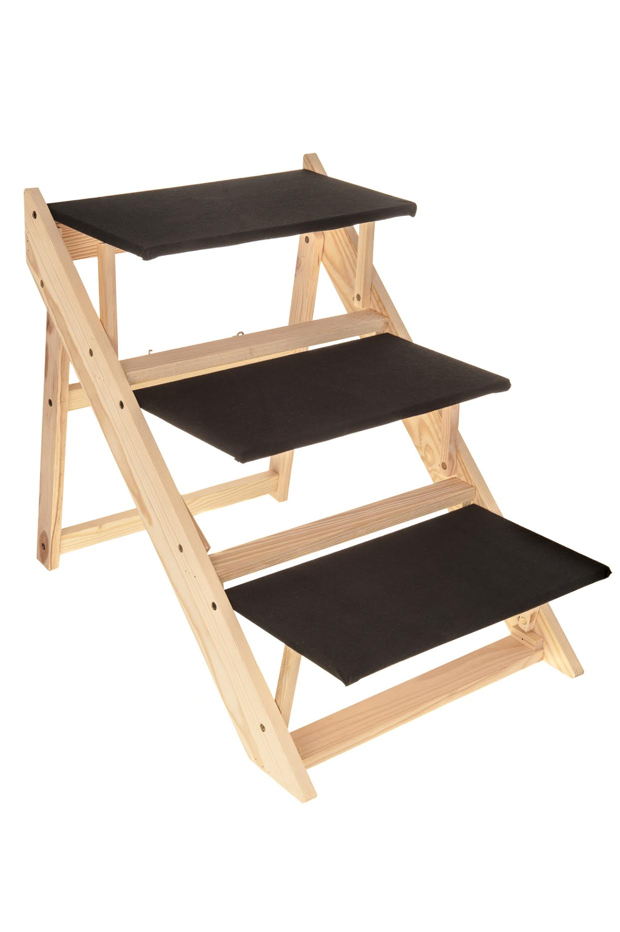 New Portable Wooden 2 In 1 Pet Folding Dog Cat 3 Ramp Steps Stairs Ladder Travel Ebay