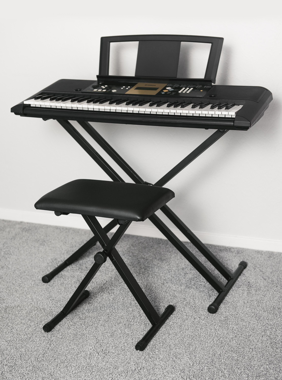Livivo Black Pro X Frame Seat Bench Stool Chair Adjustable