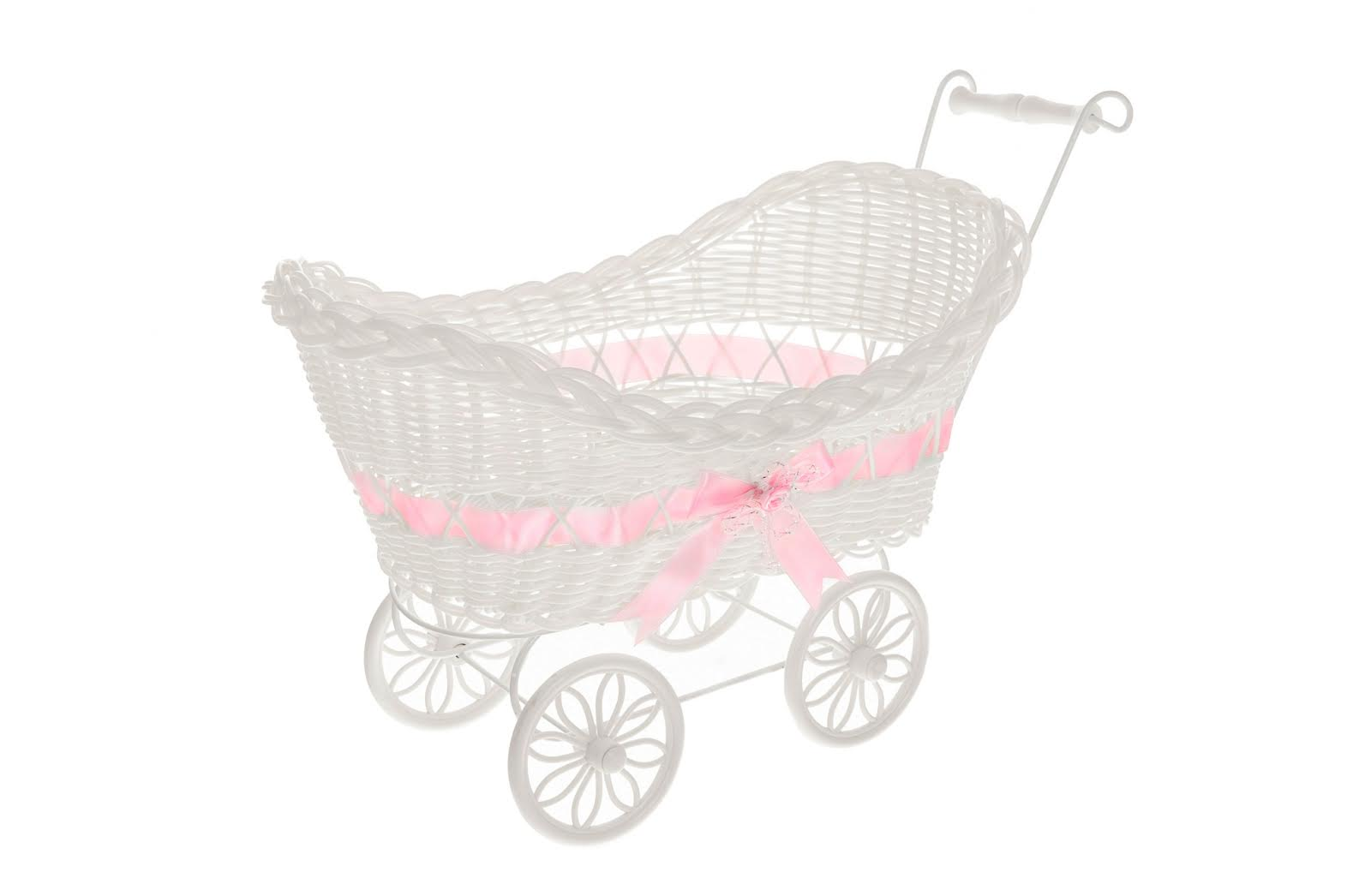 Large Baby Pram Hamper Wicker Basket Baby Shower Party