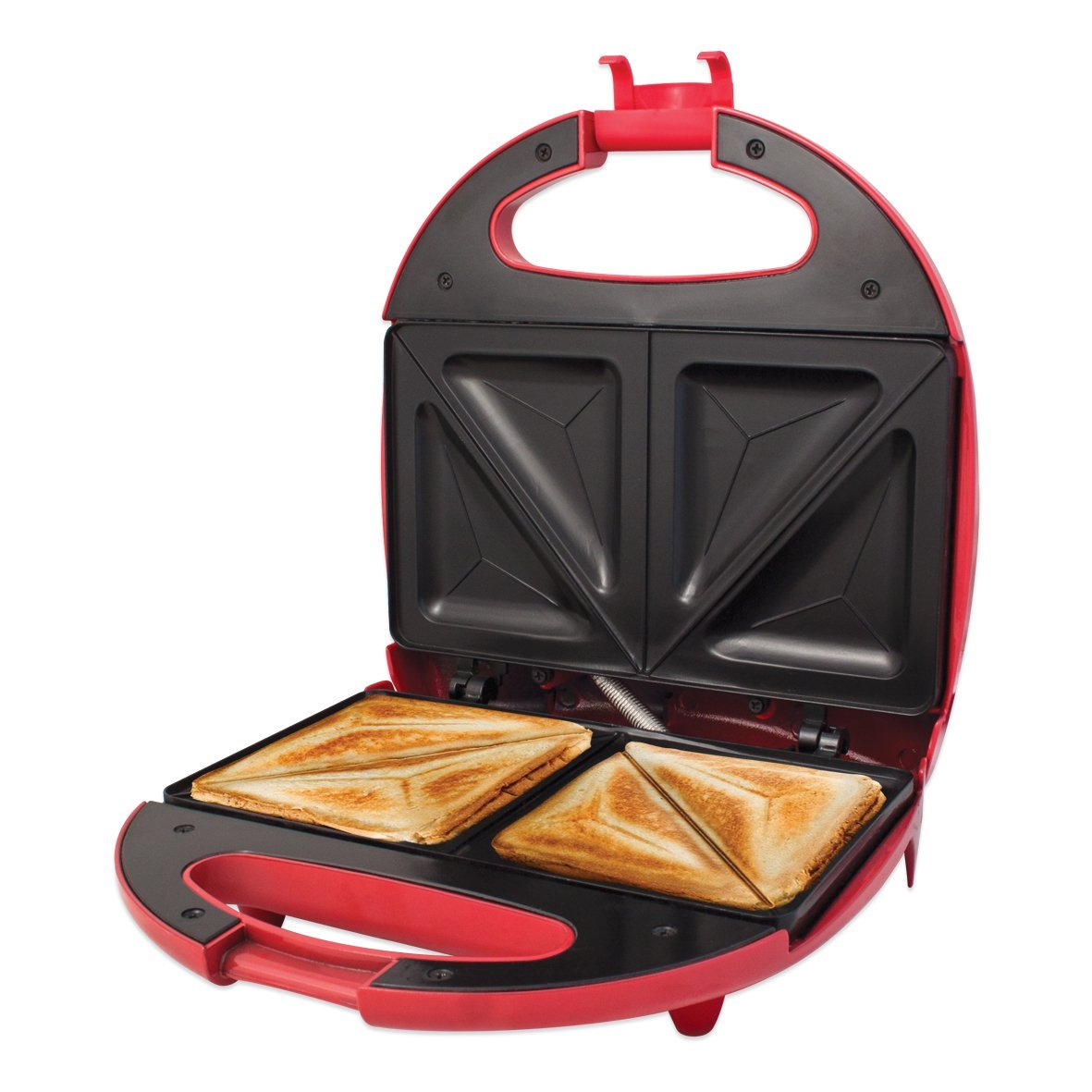 Red 700w Non Stick Electric Sandwich Toaster Maker