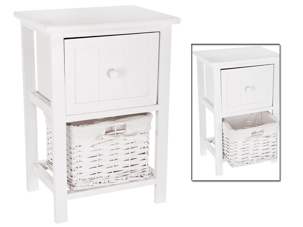 bathroom storage cabinets with wicker drawers 2 drawer shabby chic bedside cabinet table wicker basket 11720