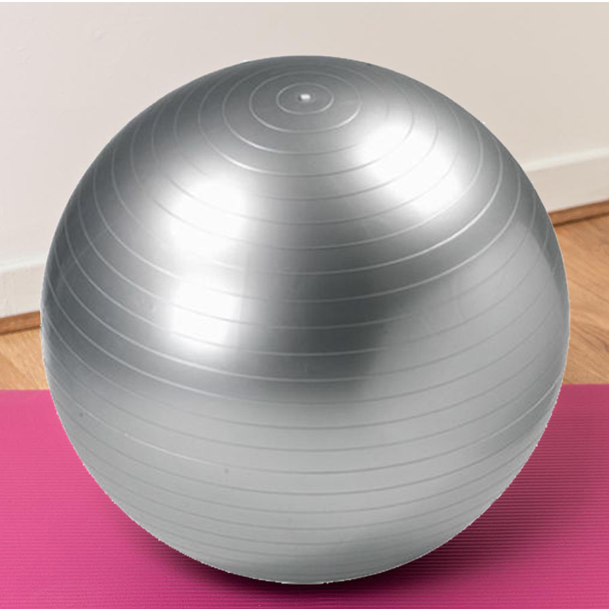Details about 65CM SILVER GYM BALL SWISS EXERCISE YOGA BALL FITNESS CORE  ABS WEIGHT LOSS SPORT d7582aca7