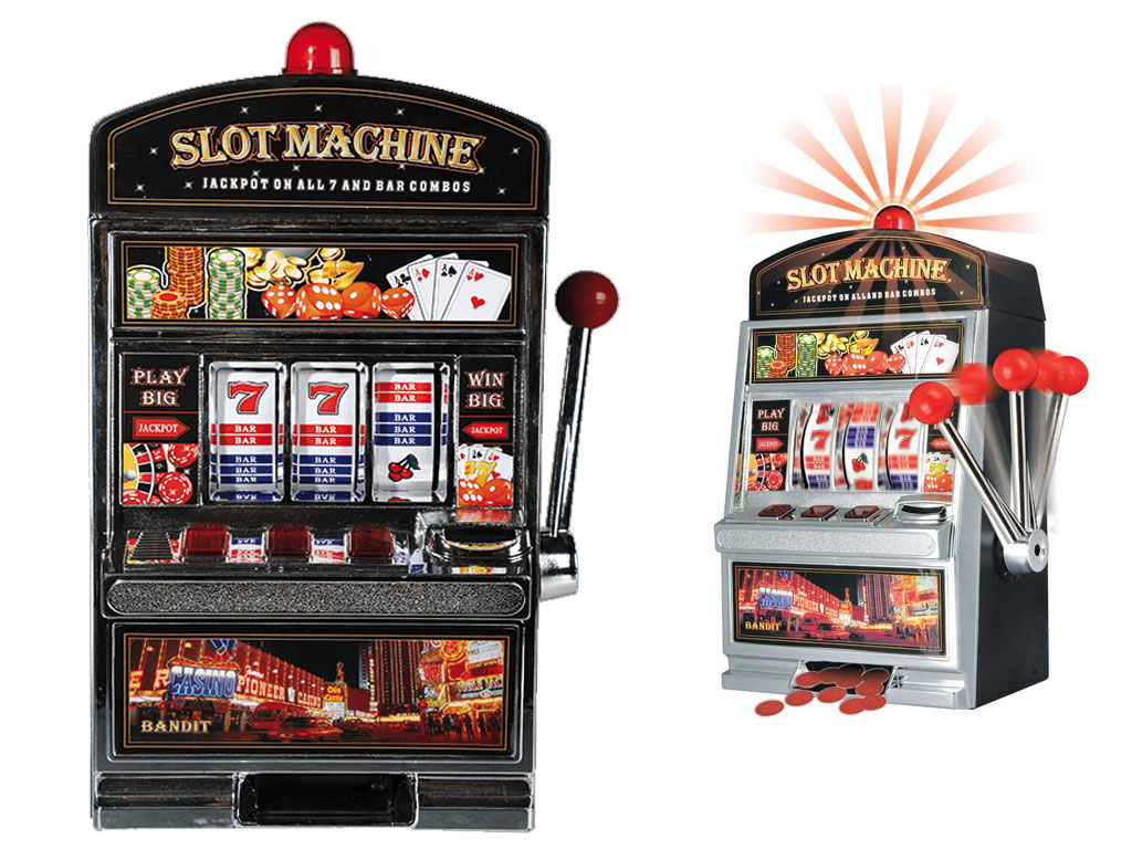 NEW ONE ARM BANDIT CASINO FRUIT COIN SLOT MACHINE NOVELTY