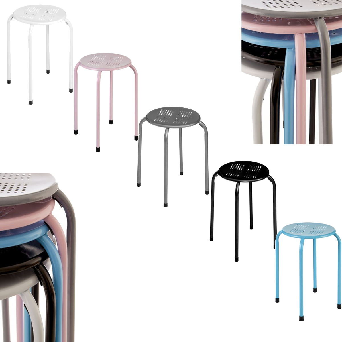 Outstanding Details About Metal Stool Stacking Dining Living Room Kitchen Breakfast Seating Stackable Seat Theyellowbook Wood Chair Design Ideas Theyellowbookinfo