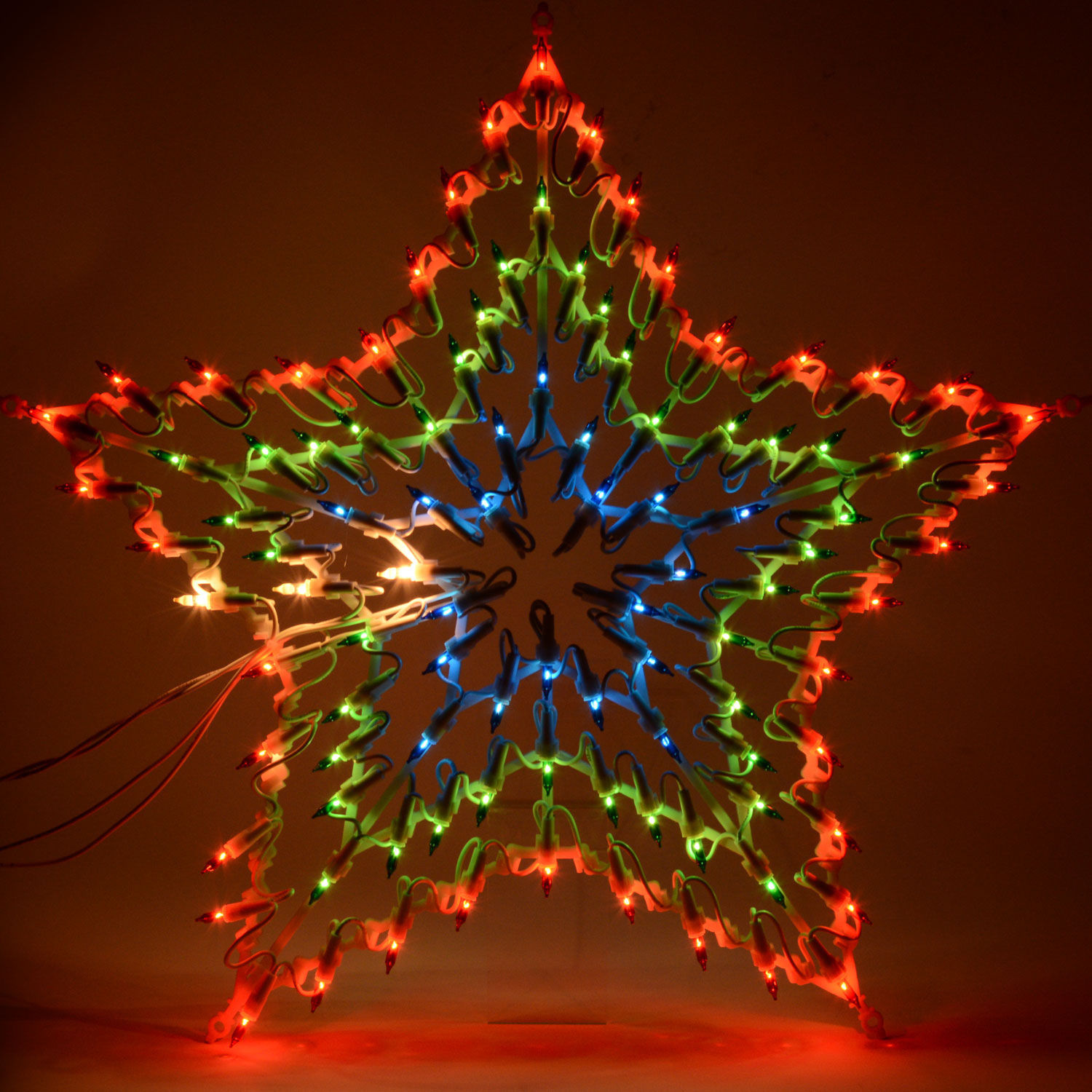 christmas multi colour led star silhouette window decoration 8 chaser lights new