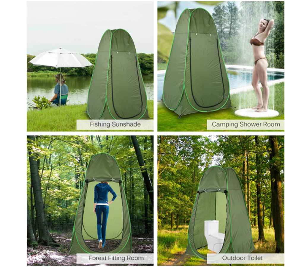 Instant Pop Up Tent Camping Toilet Shower Changing Private Room Outdoor Portable