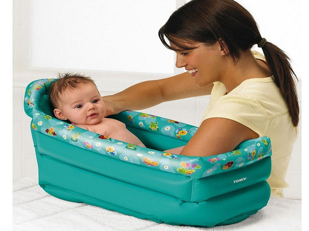NEW TOMY INFLATABLE KIDS CHILDREN TODDLER SOFT BATH TUB INFANT ...