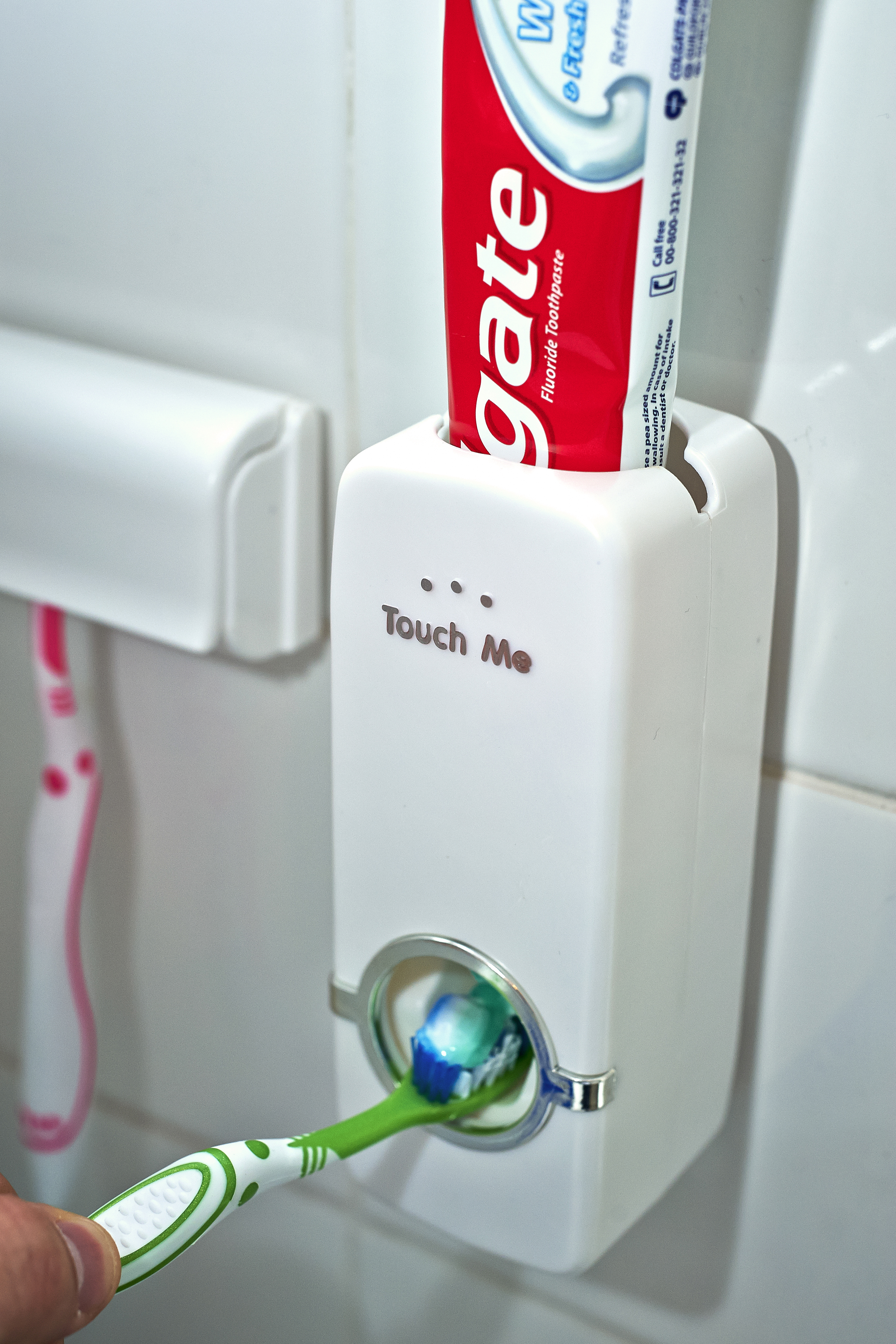 Automatic Toothpaste Dispenser 5 Toothbrush Holder Stand