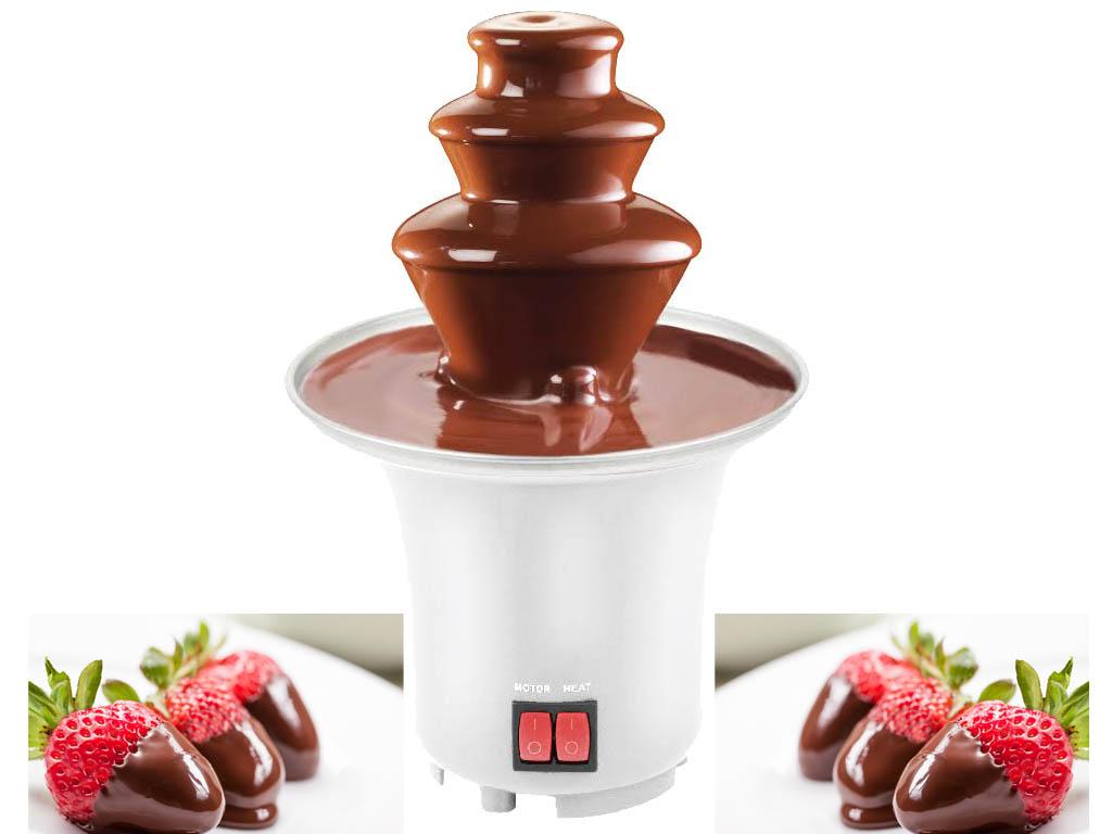 MINI ELECTRIC POWERED CHOCOLATE FOUNTAIN PARTIES CELEBRATION FONDUE DIPPING SET
