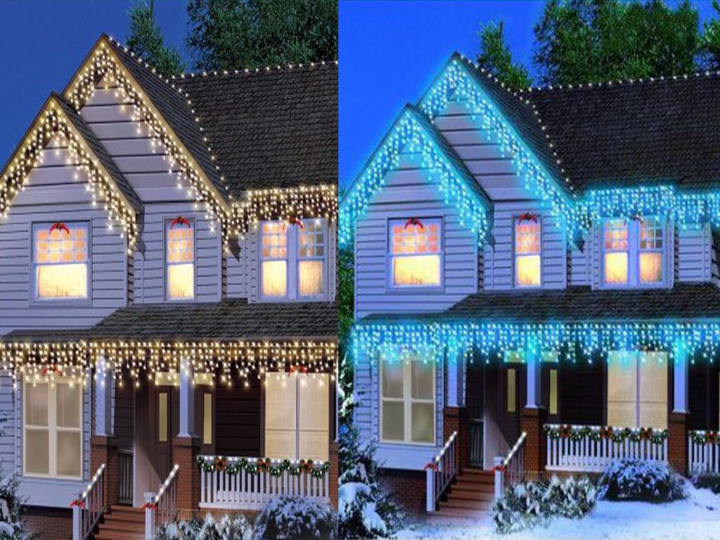 Christmas 4807209601200 led icicle snowing xmas chaser lights christmas led white snowing icicle bright party wedding xmas outdoor lights new mozeypictures Image collections