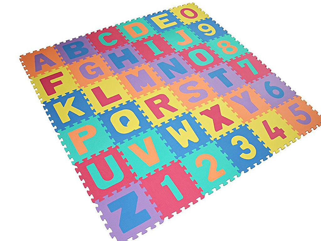 kids large alphabet foam floor mat childrens colourful play numbers puzzle ebay. Black Bedroom Furniture Sets. Home Design Ideas