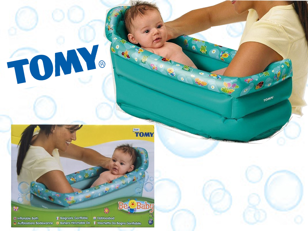 TOMY INFLATABLE BABY CHILD BATH SOFT PORTABLE KIDS BATH TUB IDEAL ...