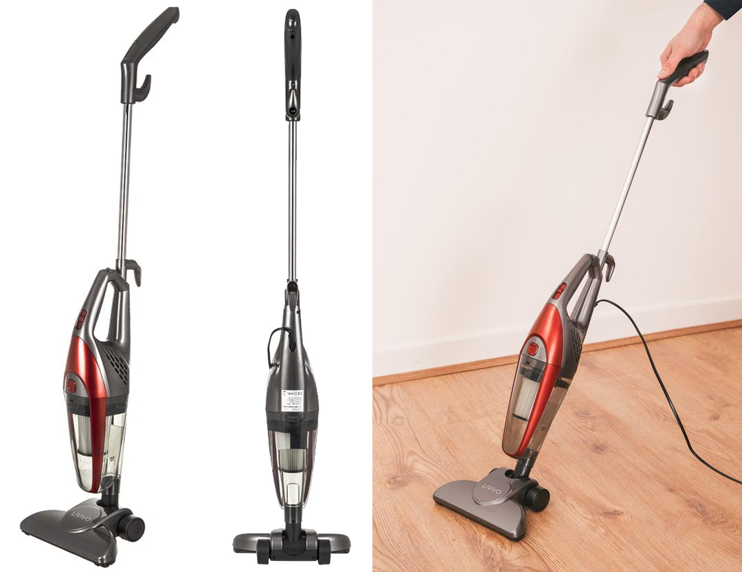 Livivo 2 In 1 Red Upright Bagless Lightweight Vacuum