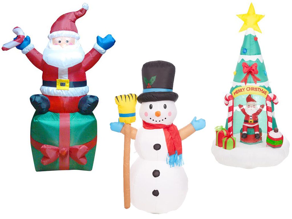 OUTDOOR GARDEN XMAS CHRISTMAS SANTA GIFT SNOWMAN INFLATABLE LIGHT UP ...