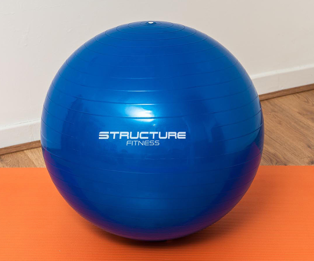 65cm blue gym ball swiss exercise yoga ball fitness core abs weight loss sport ebay. Black Bedroom Furniture Sets. Home Design Ideas