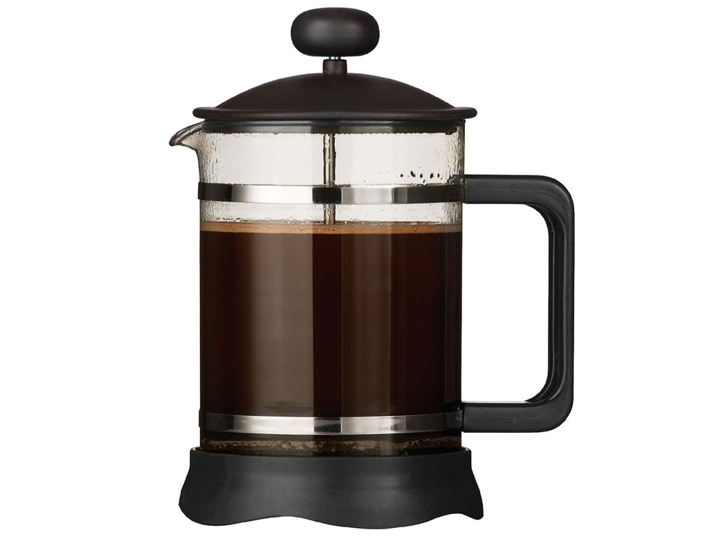6 cup black mocha cafetiere coffee maker plastic french press heat resistant gla ebay. Black Bedroom Furniture Sets. Home Design Ideas
