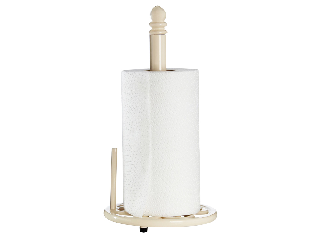 CREAM TRADITIONAL CAST IRON KITCHEN ROLL HOLDER PAPER TOWEL POLE ...