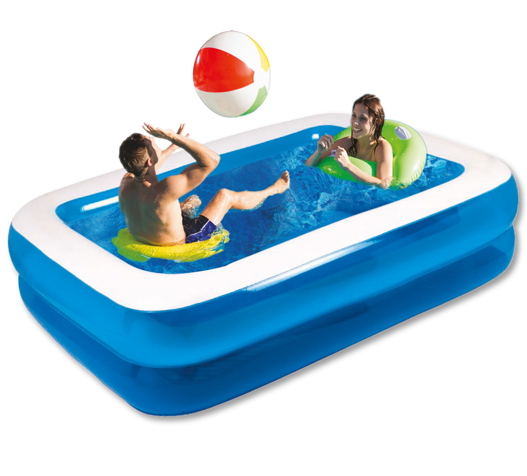 X large rectangular inflatable swimming pool family - How big is an average swimming pool ...
