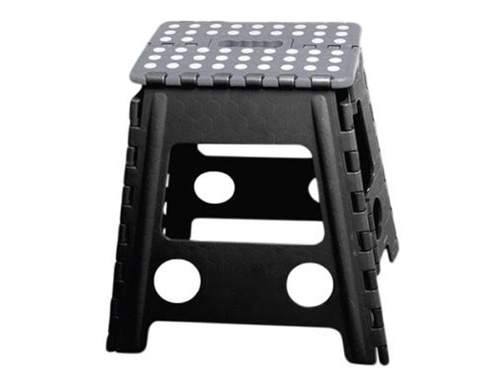 Black Folding Step Stool Plastic Multi Purpose Foldable