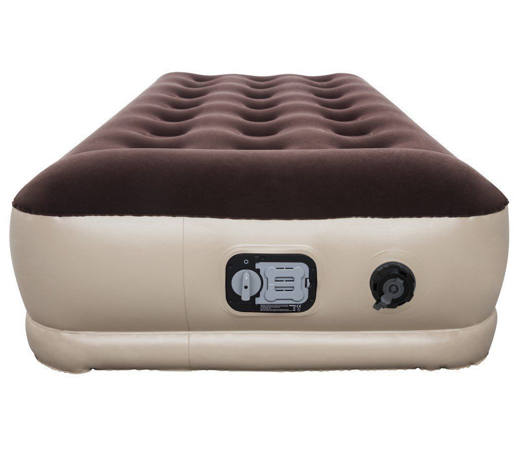 Single Inflatable High Raised Air Bed Mattress W Battery