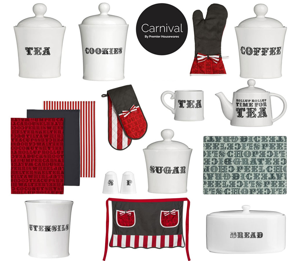 Details About Carnival Tea Coffee Sugar Cookie Bread Utensil White Black Word Dolomite Jars