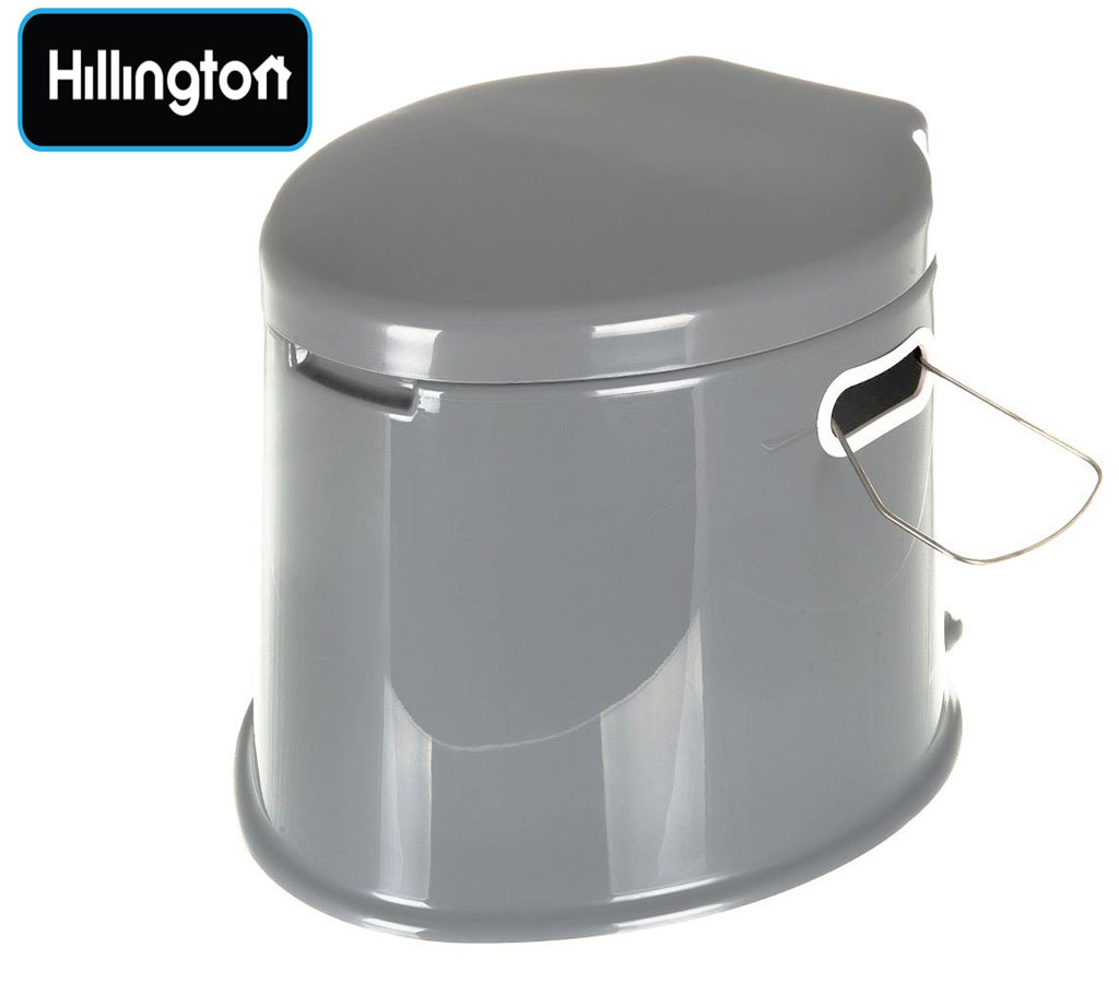 5l grey portable camping toilet manual compact potty loo. Black Bedroom Furniture Sets. Home Design Ideas