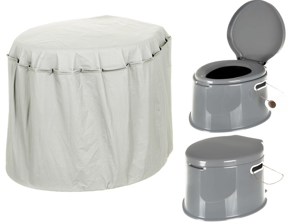 Portable Camping Toilet : Portable camping toilet cover for l compact potty loo compatible