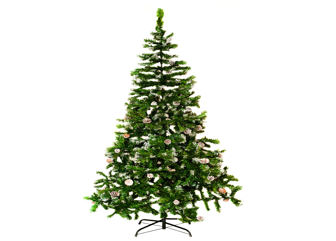 realistic christmas trees livivo artificial tree snow amp cones realistic 28898
