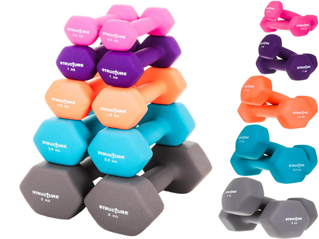 23711688f27 Details about STRUCTURE NEOPRENE HAND WEIGHTS DUMBBELLS IRON HOME GYM  FITNESS AEROBIC EXERCISE