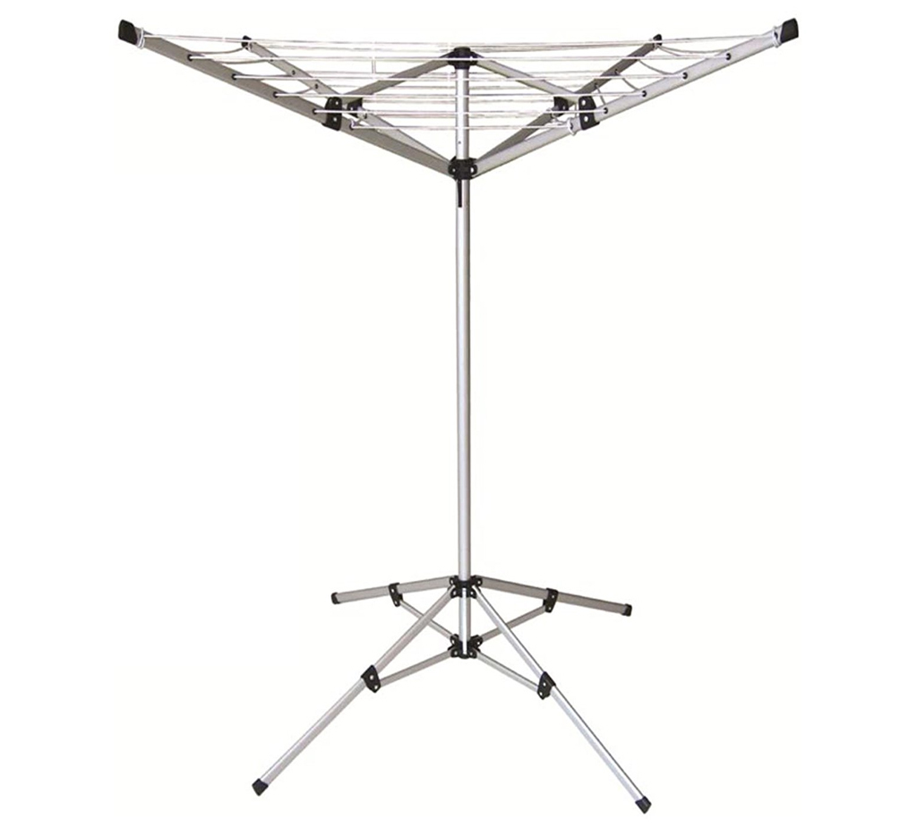 4 Arm Aluminium Rotary Airer Dryer Clothes Stand Free