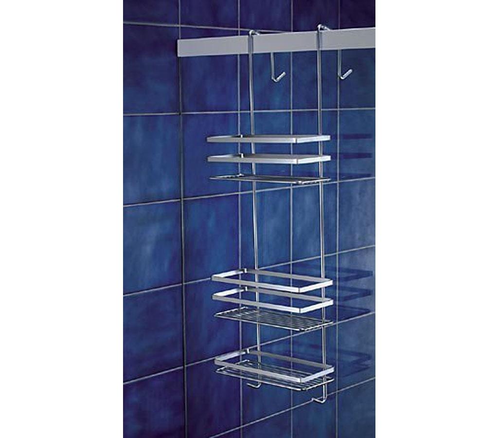 livivo over door 3 tier chrome shower caddy hanging. Black Bedroom Furniture Sets. Home Design Ideas